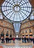 圆顶场所Vittorio Emanuele II.米兰,意大利。 免版税库存照片
