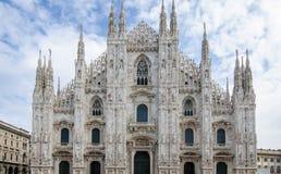 圆顶大教堂在米兰 库存图片
