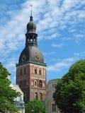 圆顶大教堂在里加。 图库摄影