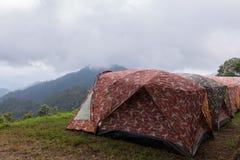 圆顶帐篷野营 库存照片