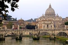 圆顶彼得・罗马s st梵蒂冈 库存图片