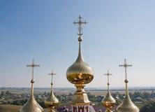 圆顶教会植物群和拉夫拉,城市苏兹达尔 免版税库存照片