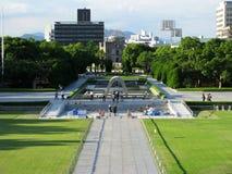 圆顶永恒火焰广岛纪念碑 库存图片