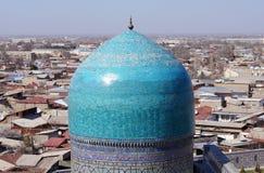 圆顶清真寺撒马而罕乌兹别克斯坦 库存图片