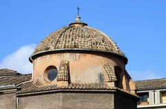 圆顶特写镜头在罗马 图库摄影