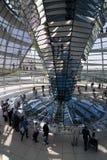 圆顶玻璃reichstag 免版税库存图片
