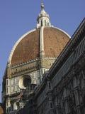 圆顶的佛罗伦萨大教堂圣玛丽亚del菲奥雷Cupola由Brunelleschi设计了 库存照片