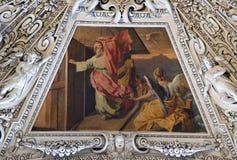 圆顶的片段在圣灵的教堂里,萨尔茨堡主教座堂 图库摄影
