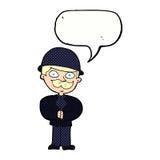 圆顶硬礼帽的动画片人有讲话泡影的 图库摄影