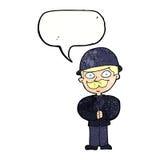 圆顶硬礼帽的动画片人有讲话泡影的 免版税库存图片