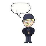圆顶硬礼帽的动画片人有讲话泡影的 库存照片