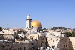 圆顶耶路撒冷岩石日出 免版税库存图片