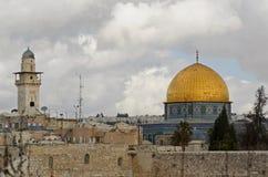 圆顶耶路撒冷岩石 图库摄影