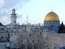 圆顶耶路撒冷岩石 库存照片