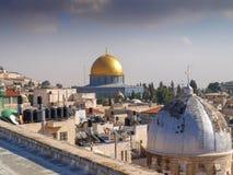 圆顶耶路撒冷老岩石sity 库存照片