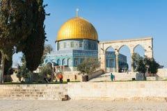 圆顶耶路撒冷老岩石sity 免版税库存图片