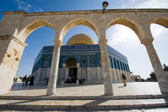 圆顶耶路撒冷老岩石sity 免版税库存照片