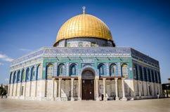 圆顶耶路撒冷老岩石sity 免版税图库摄影