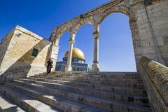 圆顶耶路撒冷老岩石sity 图库摄影