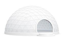 圆顶陈列帐篷 向量例证