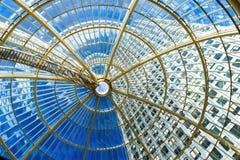 圆顶,金丝雀码头购物中心 图库摄影