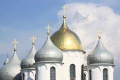 圆顶(圆屋顶)圣索菲娅大教堂 免版税图库摄影