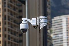 圆顶类型照相机在摩纳哥 免版税库存图片