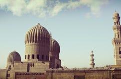 圆顶&尖塔在老开罗埃及 免版税库存照片