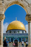 圆顶以色列耶路撒冷岩石 免版税库存照片