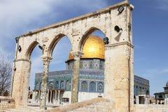 圆顶以色列耶路撒冷岩石 免版税库存图片