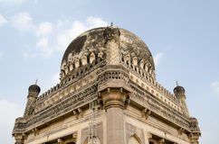 圆顶细节, Qutb沙赫坟茔 库存照片