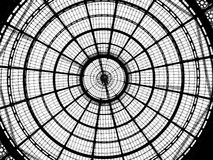 圆玻璃天花板 免版税库存照片