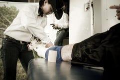 圈地和牛仔运动医学 库存照片
