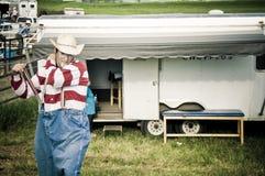 圈地和牛仔 免版税库存照片
