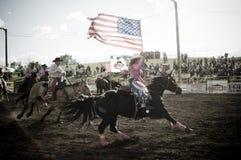 圈地和牛仔 免版税图库摄影