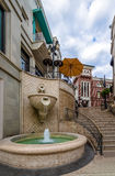 圈地推进街道喷泉在比佛利山-洛杉矶,加利福尼亚,美国 库存图片