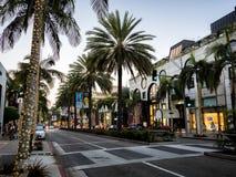 圈地2017年8月12日的推进棕榈, -洛杉矶, LA,加利福尼亚,加州 免版税库存照片
