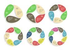 圈子下降infographic 在平的设计样式的传染媒介模板 图库摄影