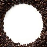 圈子与拷贝空间的咖啡豆框架 免版税库存图片