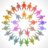 圈子五颜六色的人图表 库存图片