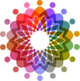 圈子五颜六色的人图表 免版税库存照片