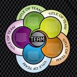 圈子五颜六色的设计 库存图片