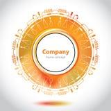 圈子元素-实验室管-抽象背景 免版税库存图片