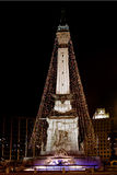 圈子印第安纳波利斯纪念碑 库存照片