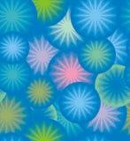 圈子和星抽象几何  免版税库存图片
