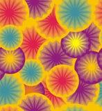 圈子和星抽象几何  免版税库存照片