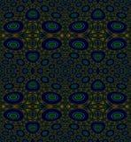 圈子和椭圆仿造深蓝绿色橙色褐色 库存图片