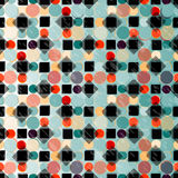 圈子和正方形颜色传染媒介背景墙纸 免版税库存图片