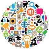 圈子图标集 免版税图库摄影