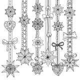 圈子圣诞节球装饰品 免版税库存照片